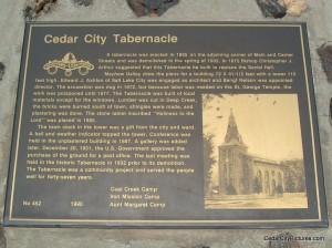 Cedar City Tabernacle Plaque (Cedar City Tabernacle)