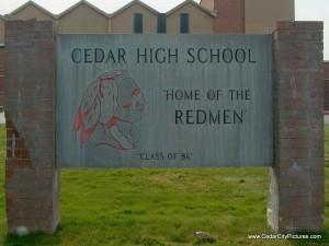 Cedar High School Sign (Cedar High School)