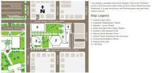 map legend parking bard utah shakespeare festival (Utah Shakespeare Festival)