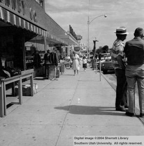 JC Penney Co – Cedar City main street sidewalk (J. C. Penney Co.)