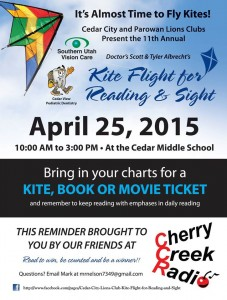 Kite Flight for Reading and Sight 2015 - Cedar City Middle School