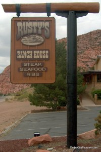 Rusty's Ranch House Sign