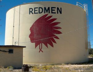 Redmen Water Tank Cedar city (Water Tanks with Logos)
