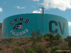 cvhs canyon view water tank cedar (Water Tanks with Logos)
