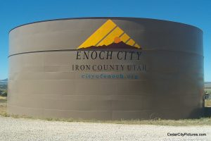 enoch utah water tank (Water Tanks with Logos)