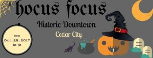 cedar city historic downtown hocus focus halloween businesses trick or treat (Hocus Focus – Historic Downtown Cedar City)