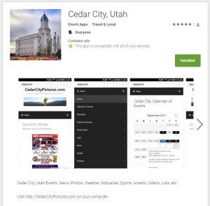 store listing android cedar city utah app (Cedar City, Utah Android App)