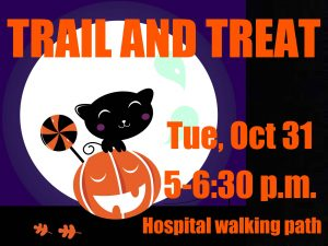 trail and treat hospital walking path halloween cedar city (Trail and Treat)