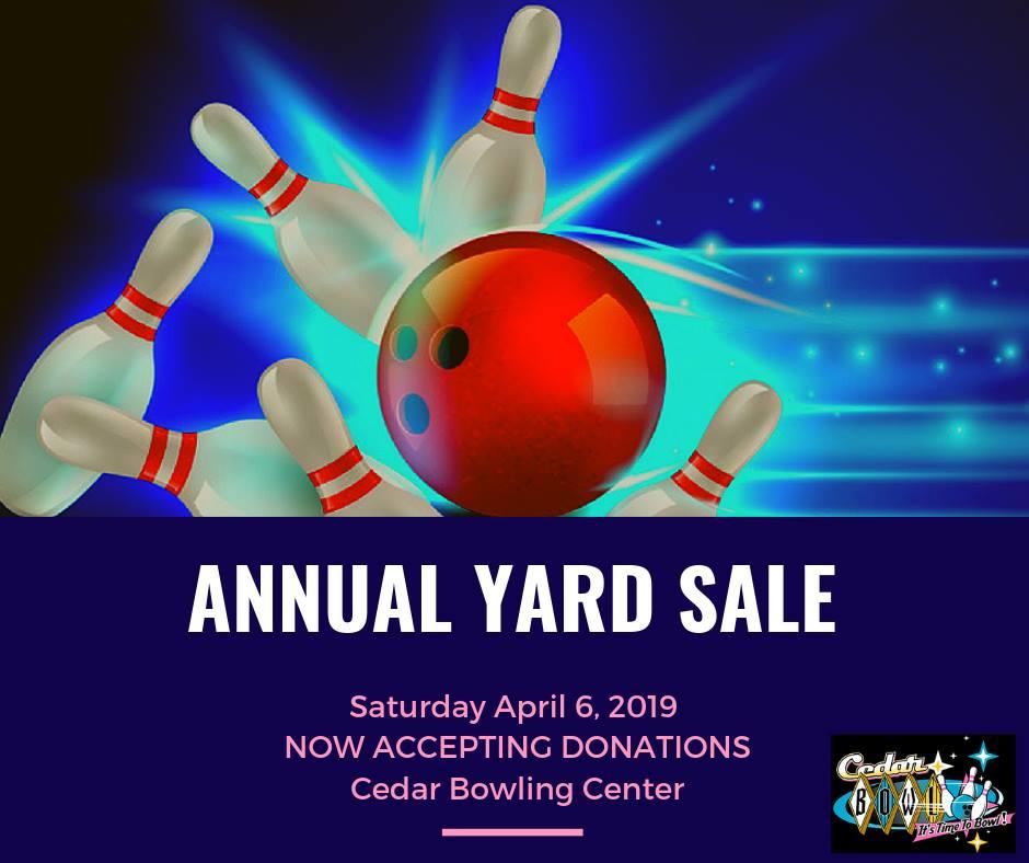 Annual Bowling Association Yard Sale