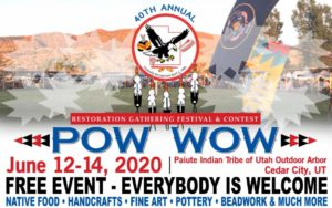 2020 restoration gathering pow wow paiute indian tribe flyer free (Restoration Gathering Festival Pow Wow 2020)