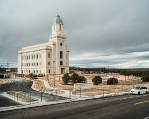 View of the Cedar City Temple and lot. Photo courtesy Kurtis Leany/Zion Photography, November 20, 2016.