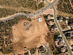Cedar City Temple Plot, Aerial View, Day Before Groundbreaking