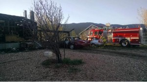 Enoch Fire House burned - Cedar City Fire Truck