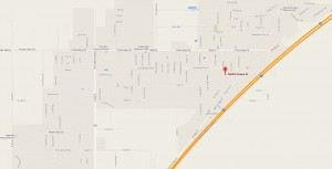 Map of house fire in Enoch City, Utah
