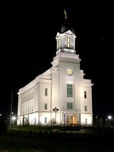 cedar city temple lights night lds utah