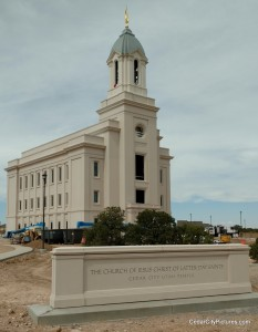 Cedar City Temple with Moroni on top