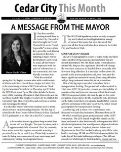 Cedar City Newsletter
